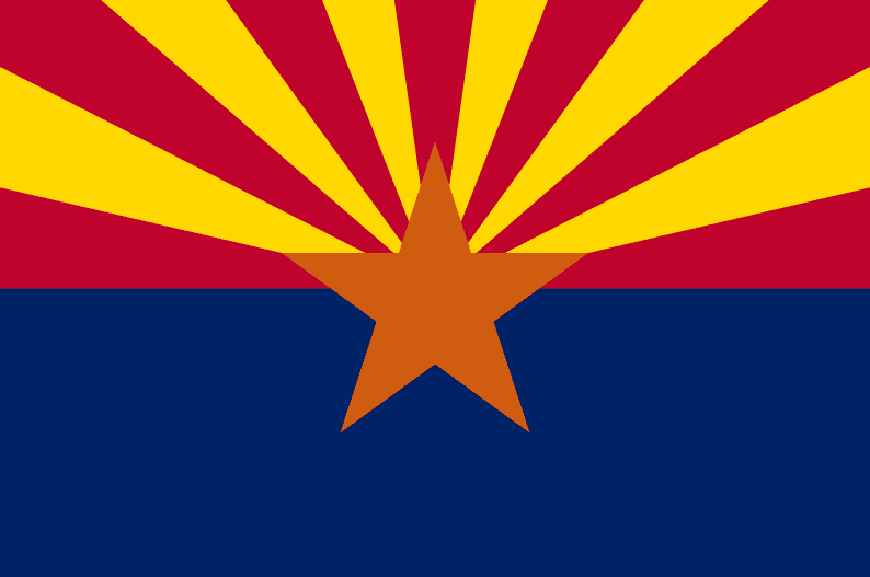 Illustration: Arizona state flag