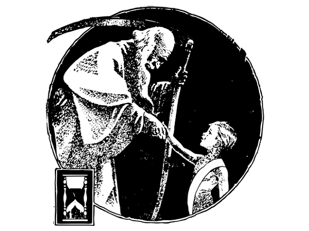Illustration: Father Time welcomes the New Year