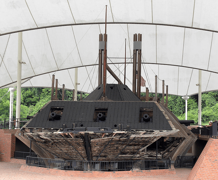 Photo: USS Cairo in her final resting place at Vicksburg National Military Park, Mississippi