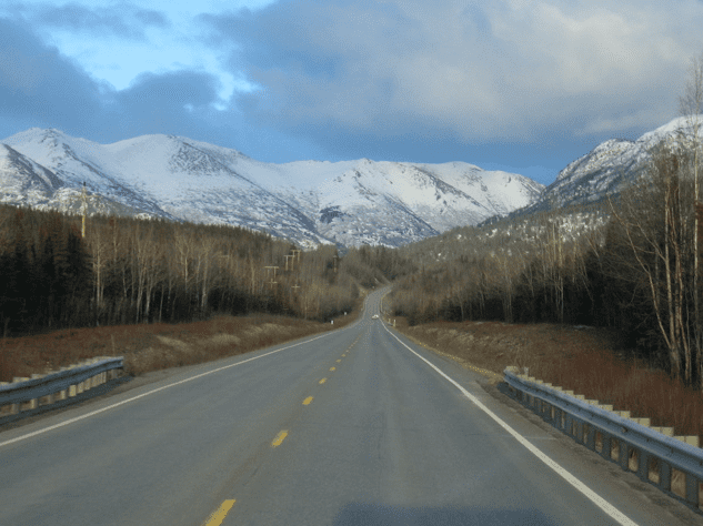 Photo: the Sterling Highway, near its intersection with the Seward Highway, Alaska