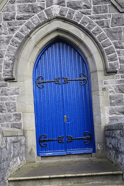 Photo: door at Church House (COI Diocese of Armagh), Abbey Street, Armagh, County Armagh, Northern Ireland