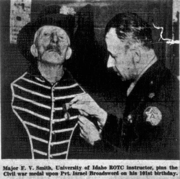 An article about Israel Broadsword, Salt Lake Tribune newspaper article 4 June 1950