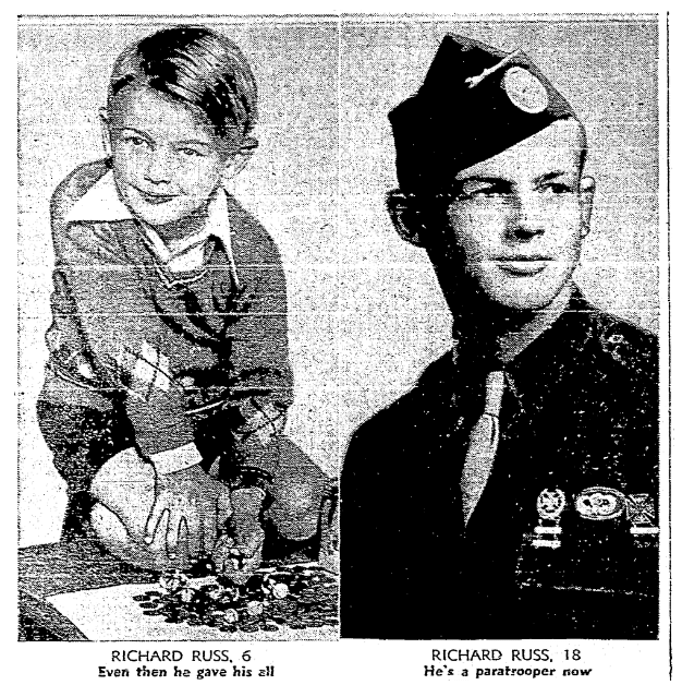 An article about Dick Russ, San Francisco Chronicle newspaper article 18 December 1942