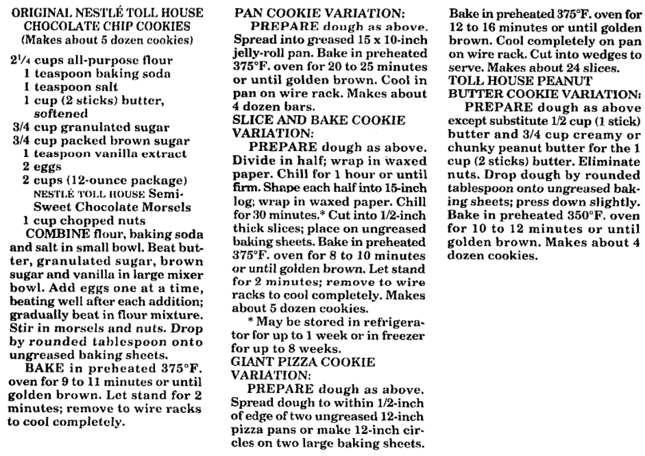 Cookie recipes, St. Albans Daily Messenger newspaper article 31 January 1996