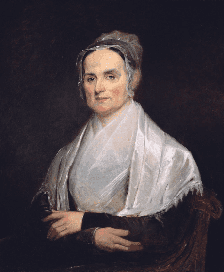 Illustration: portrait of Lucretia Mott by Joseph Kyle, 1842