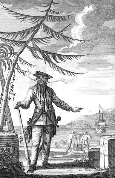 "Illustration: Edward Teach, a.k.a. ""Blackbeard,"" c. 1736"
