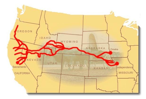 Map: California Trail