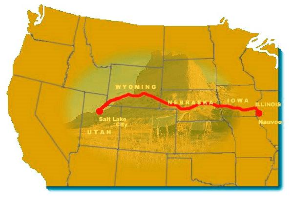 Map: Mormon Trail