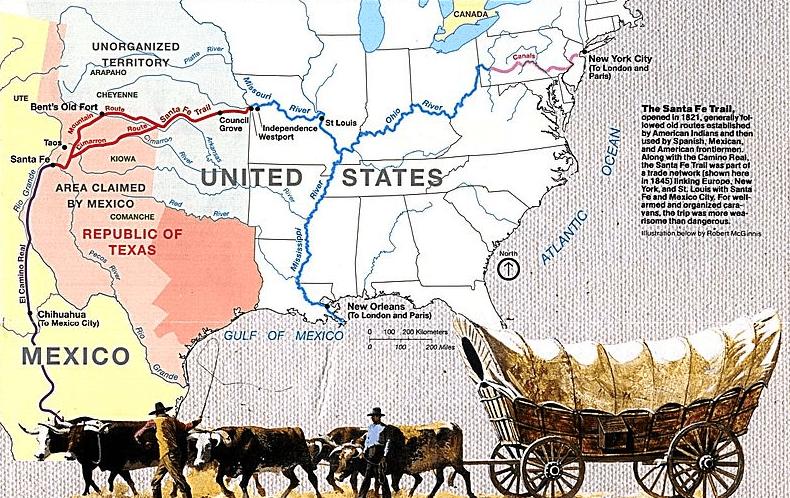 Map: Santa Fe Trail