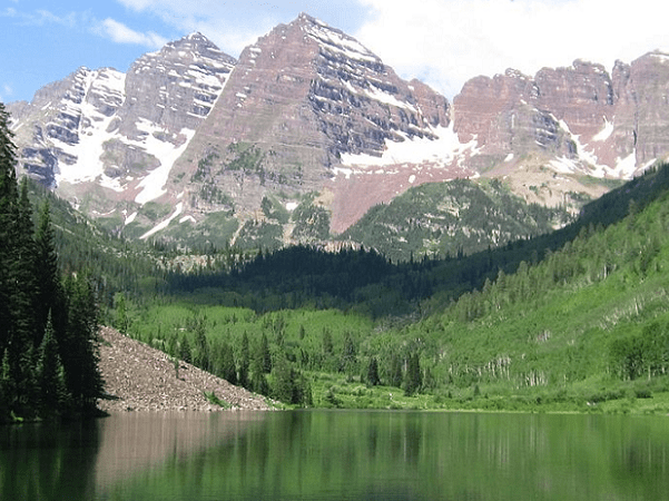 Photo: the Elk Mountains near Aspen, Colorado. Credit: Hogs555; Wikimedia Commons.