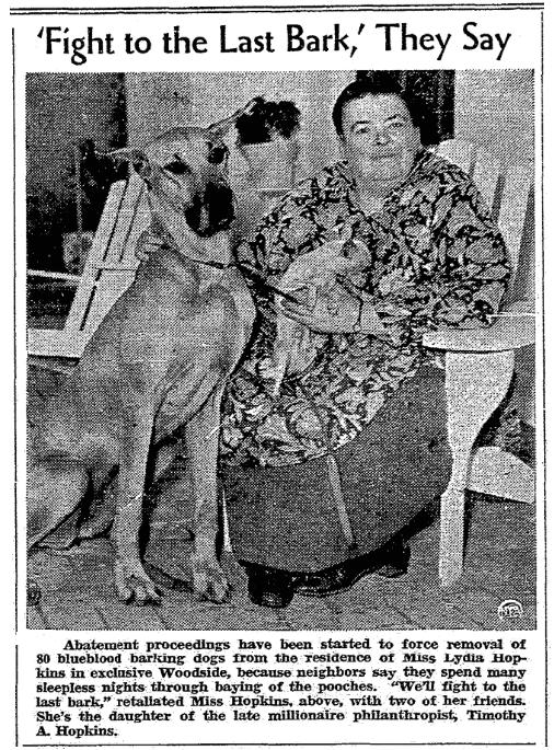 An article about Lydia Hopkins, Riverside Daily Press newspaper article 11 March 1940