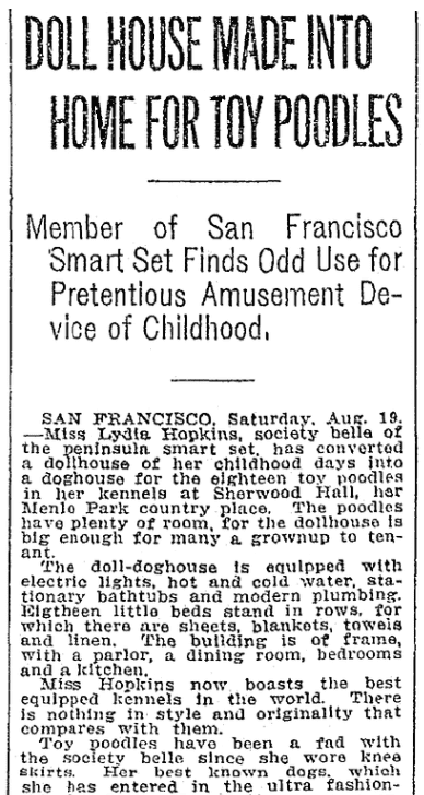 An article about Lydia Hopkins, Seattle Daily Times newspaper article 20 August 1911