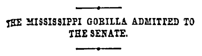 An article about Hiram Revels, Cincinnati Daily Enquirer newspaper article 26 February 1870