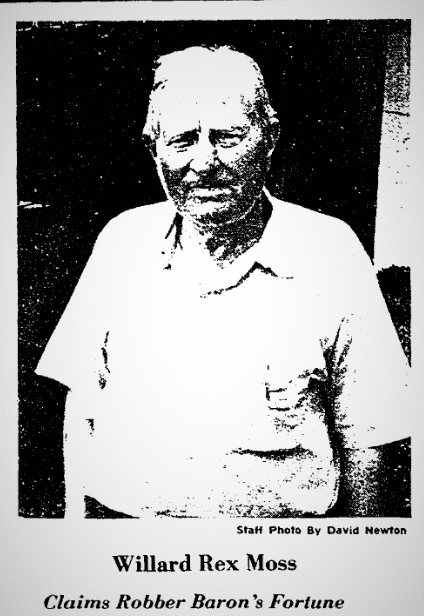 A photo of W. R. Moss, Greensboro Daily News newspaper article 4 September 1978
