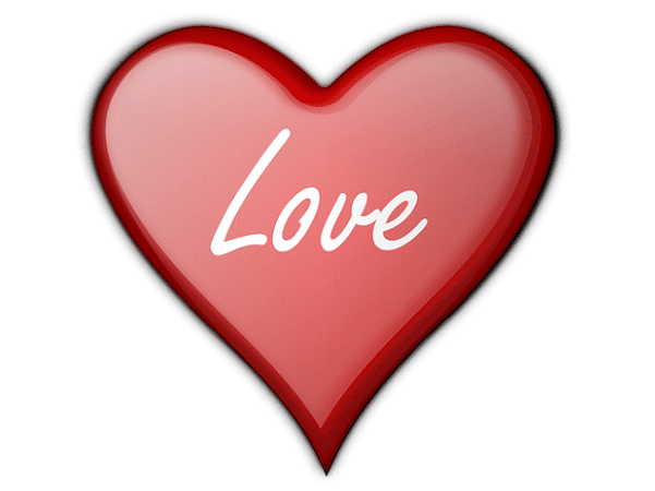 """Illustration: a heart with the word """"love"""" in the middle"""