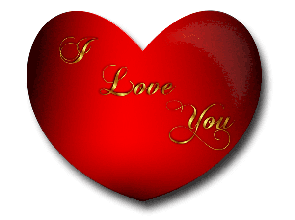 """Illustration: a heart with """"I love you"""" in the middle"""