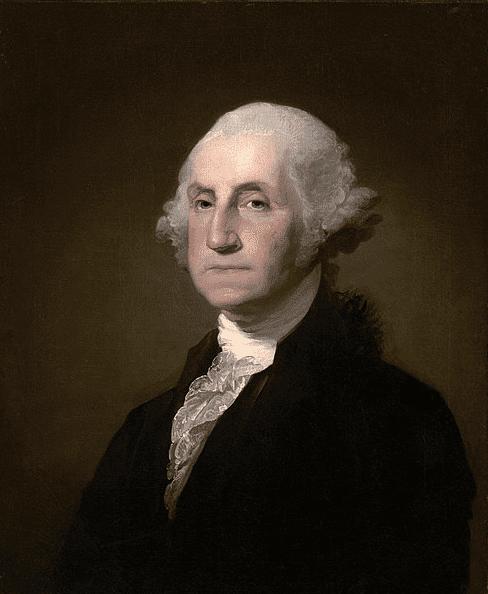 Illustration: portrait of George Washington by Gilbert Stuart, 1796