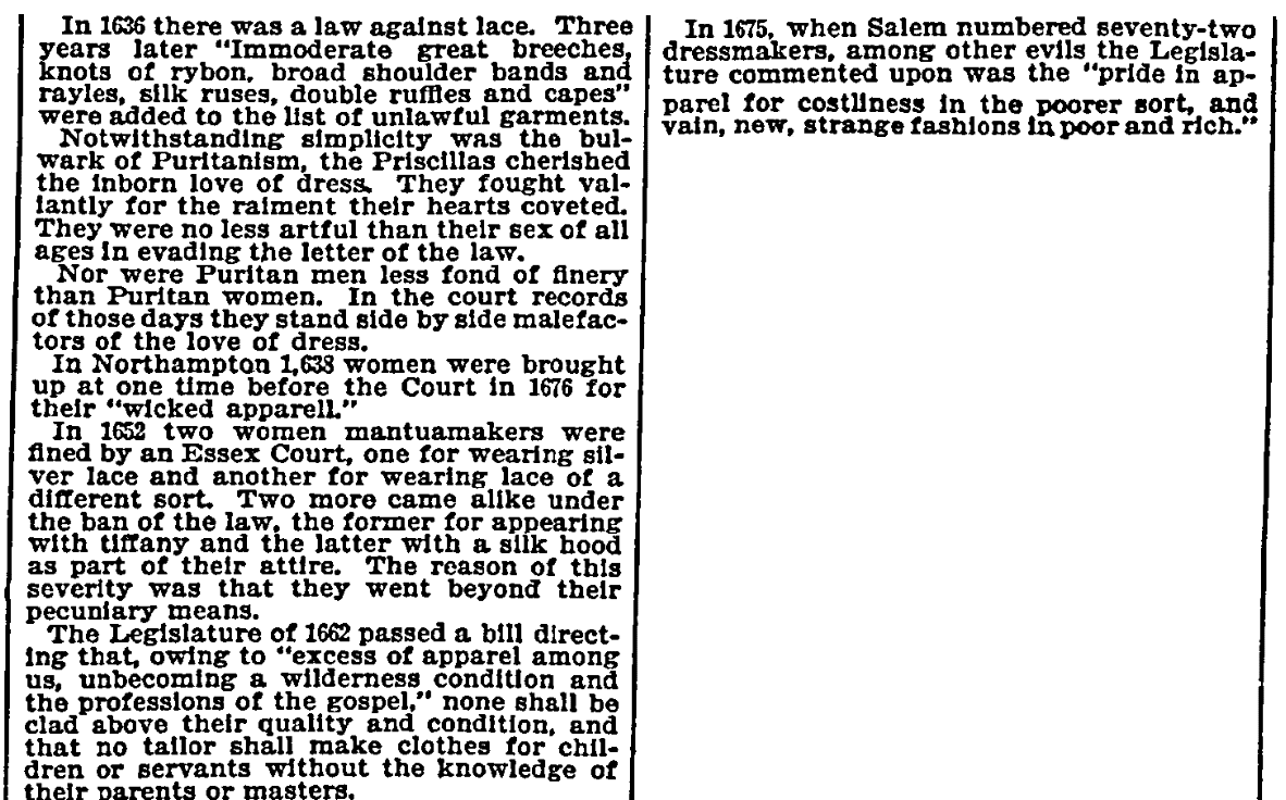 An article about clothing laws, New York Herald newspaper article 7 July 1895