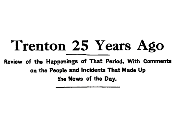 "A ""25 Years Ago"" newspaper column"
