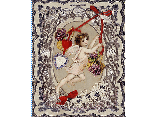 Photo: an English Victorian-era Valentine card located in the Museum of London, c. 1870. Credit: rgEbfucR4wKBlg; Wikimedia Commons.