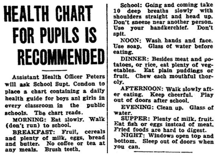 An article about washing hands, Cincinnati Post newspaper article 19 March 1917