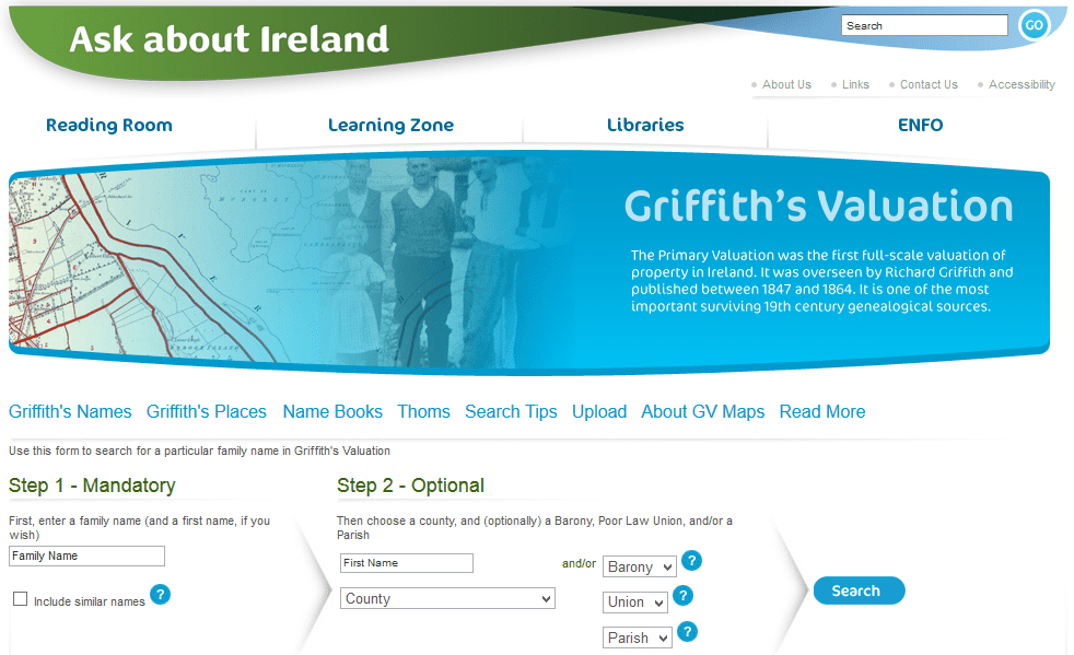 Photo: Griffith's Valuation web page