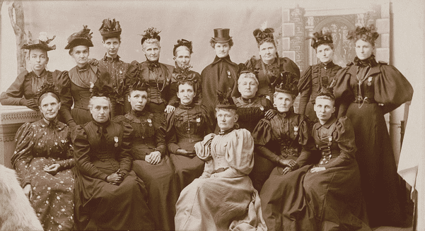 Photo: Iowa Women's Relief Corps, c. 1890