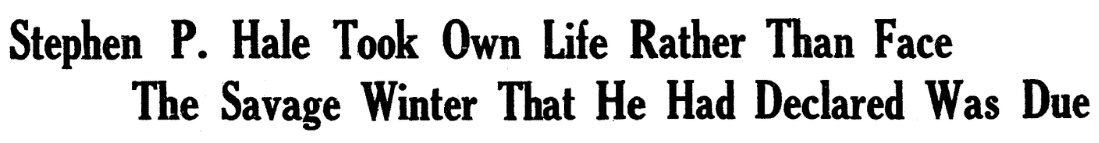 An article about Stephen Hale, Boston Herald newspaper article 26 January 1930