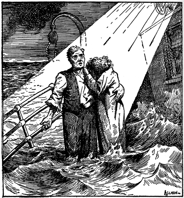 """Illustration: """"Nearer, My God, to Thee,"""" published in the """"Toledo News-Bee,"""" 1912"""