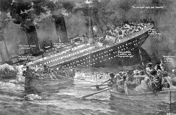 Illustration: the sinking of the Titanic