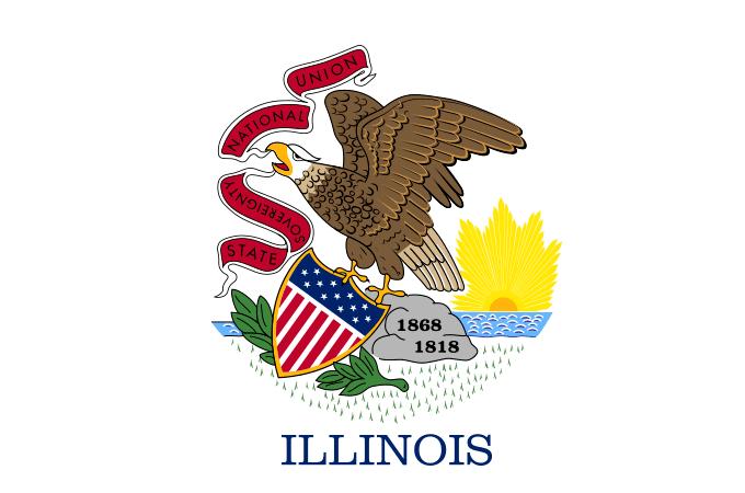 Illustration: Illinois state flag