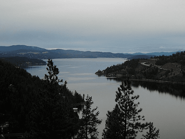 Photo: Lake Coeur d'Alene in north Idaho. Credit: Jami Dwyer; Wikimedia Commons.