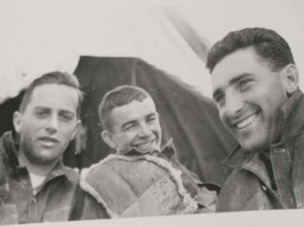 Photo: (l-r) Duke Ellison, Grover Cleveland Gauntt Jr. (the author's father) and a third, unidentified man, training at Camp Roberts in central California, 1943. Credit: Casey Gauntt.