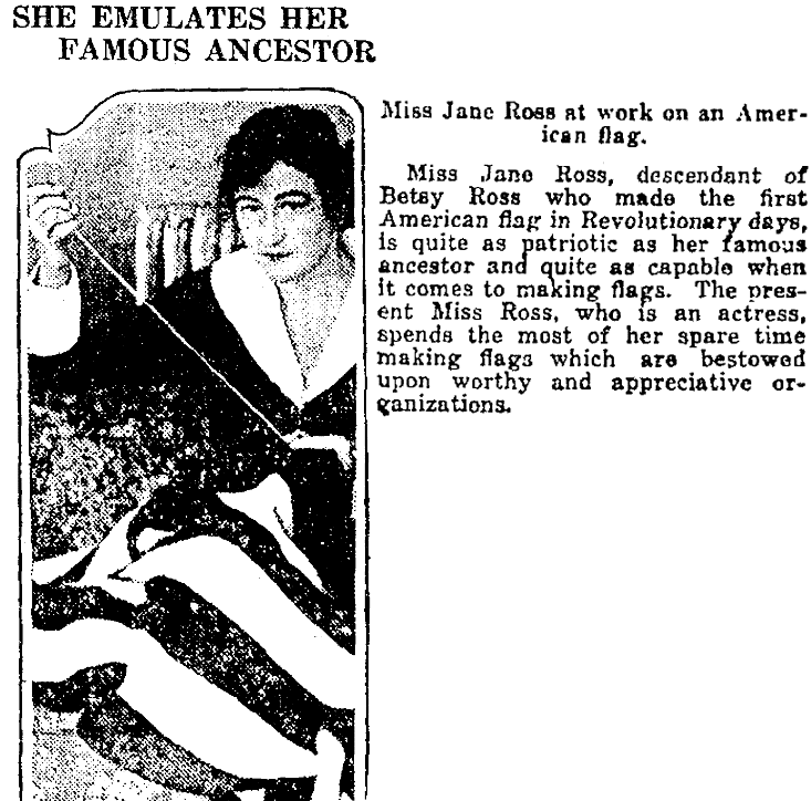 An article about Jane Ross, Colorado Springs Gazette newspaper article 29 April 1917