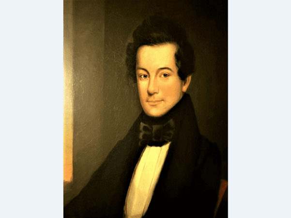 Illustration: portrait of Ben: Perley Poore in private collection, courtesy of Rick Cardinal, N.H.