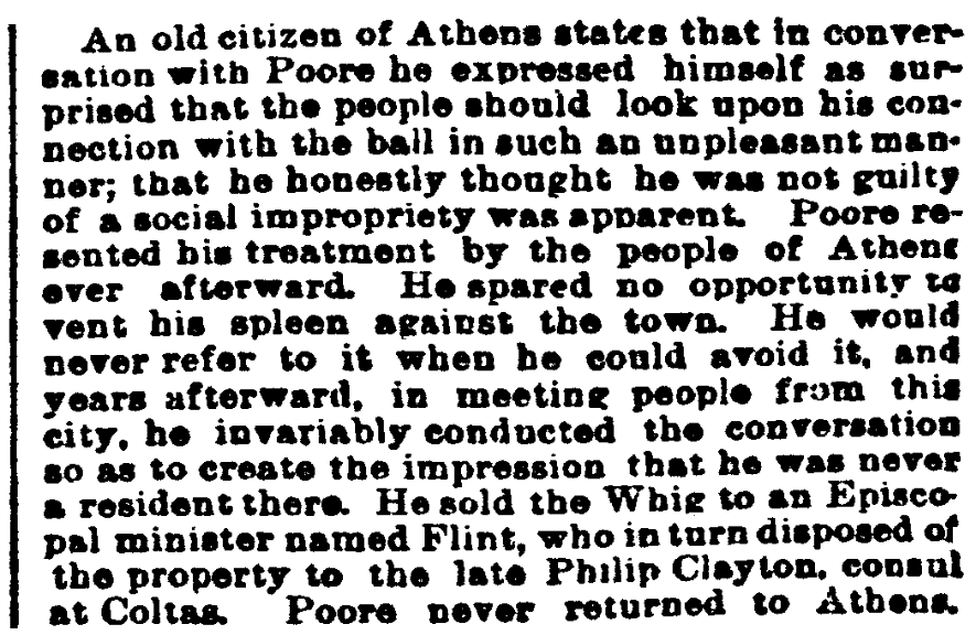 An article about Benjamin Poore, Indianapolis Journal newspaper article 31 May 1887