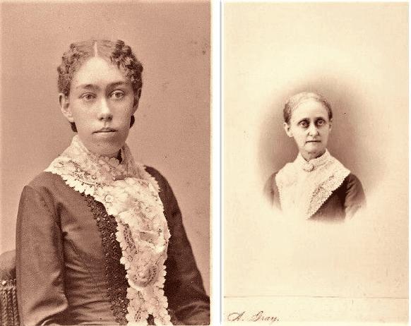 Montage: daughter Harriet Augusta Hart (left) and mother Lois Augusta Shute Hart (right)