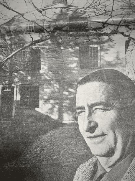 Photo: John Parker at the Porter-Phelps-Huntington house, Hadley, Massachusetts, 1959