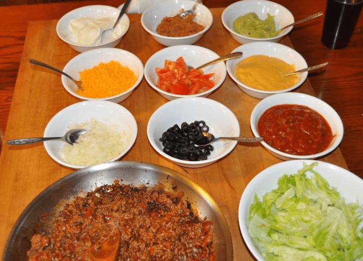 Photo: various taco ingredients