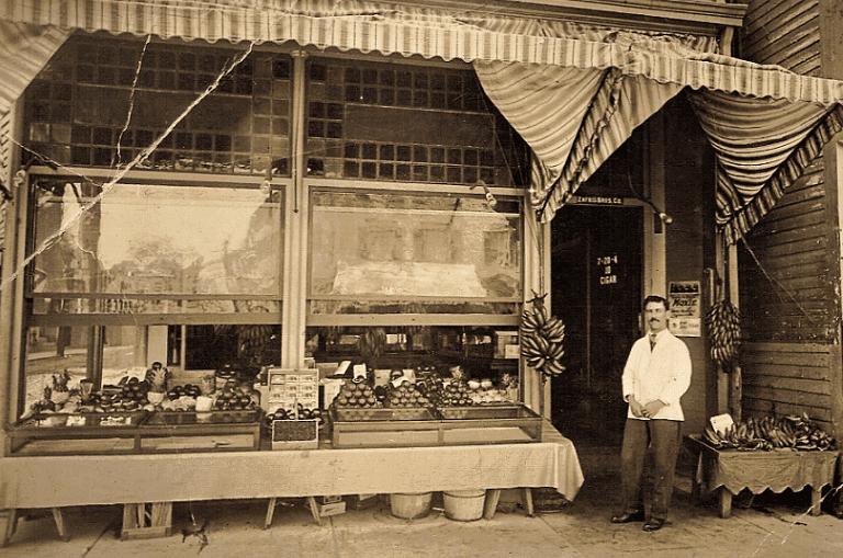 Photo: James Zafris in front of his store, Newburyport, Massachusetts