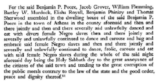 """From: Talmadge, John E. """"Ben: Perley Poore's Stay in Athens."""" The Georgia Historical Quarterly, Vol. 41, No. 3, September 1957"""
