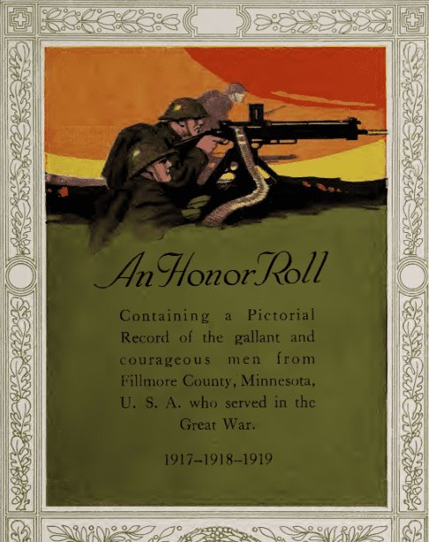 Photo: WWI Honor Roll from Fillmore County, Minnesota