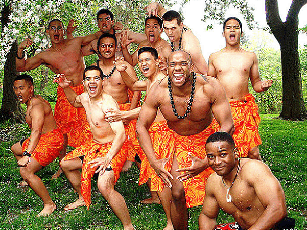Photo: cadets performed the Haka Dance during the eighth annual West Point Asian Pacific American Observance Celebration on 1 May 2009 at Trophy Point. A Haka is a traditional posture dance form with shouted accompaniment of the Maori of New Zealand. Credit: U.S. Army; Wikimedia Commons.