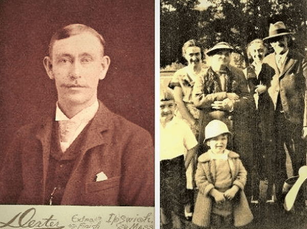 Montage: photos of George Hart and his family. Credit: Carolyn Wood Hart.