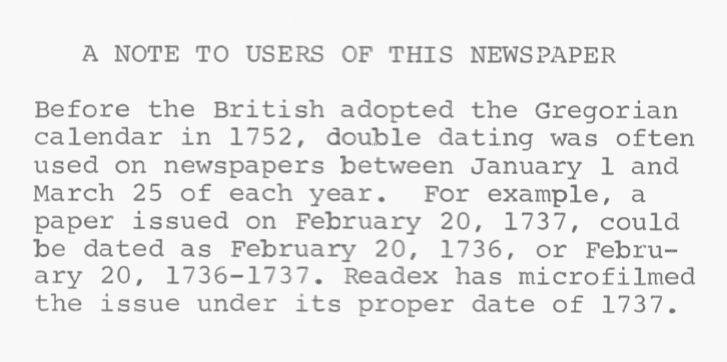 A note about the Gregorian Calendar