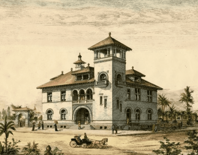 Illustration: artist's rendering of proposed U.S. Courthouse in Tallahassee, Florida, 1899