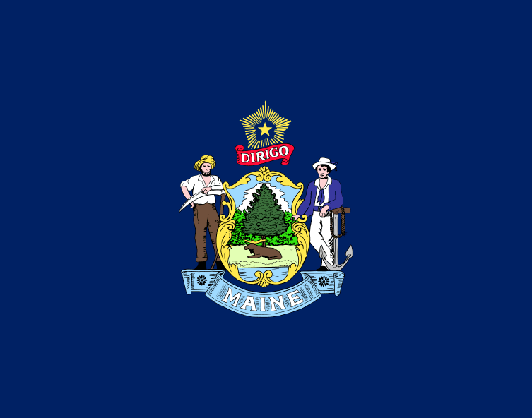 Illustration: Maine state flag