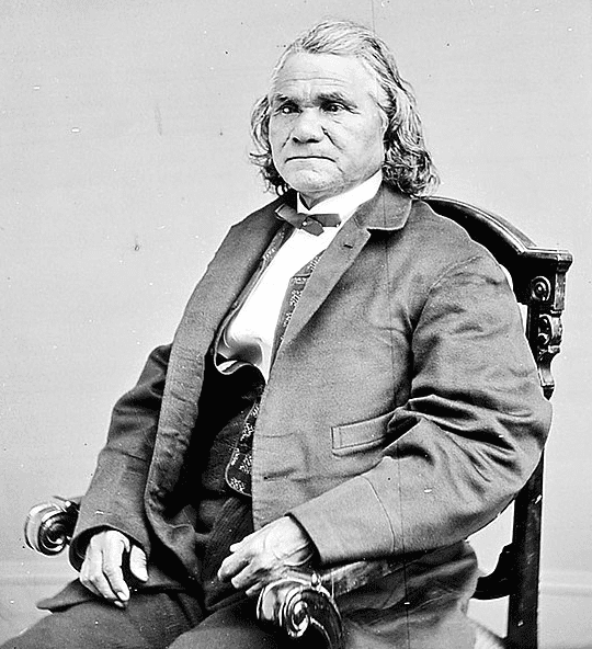 Photo: Isaac Stand Watie Degataga, the Cherokee chief who was the last Confederate general to surrender in the Civil War