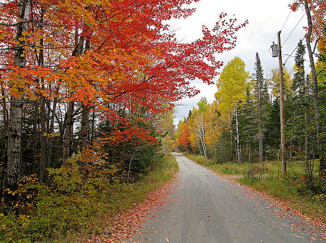 Photo: autumn in Stratton, Flagstaff Lake, Maine