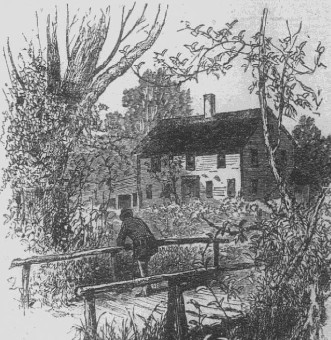 Illustration: the Whittier house in Haverhill, Massachusetts